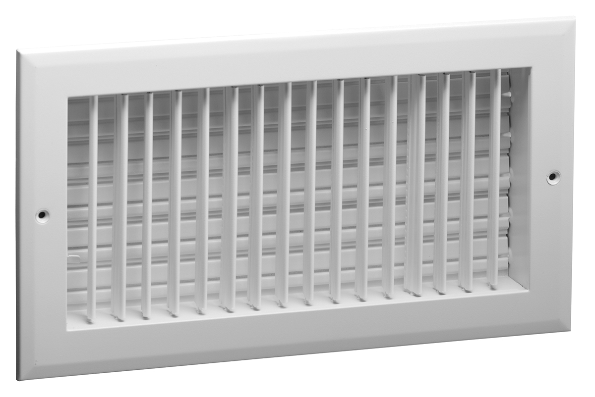 Wall Grille With Opposed Blade Damper : A ms ob aluminum straight blade vertical fin