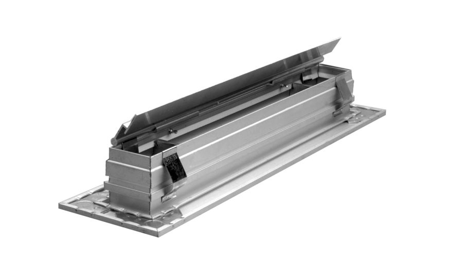 Linear Diffuser With Damper : Elf els linear diffusers airmate