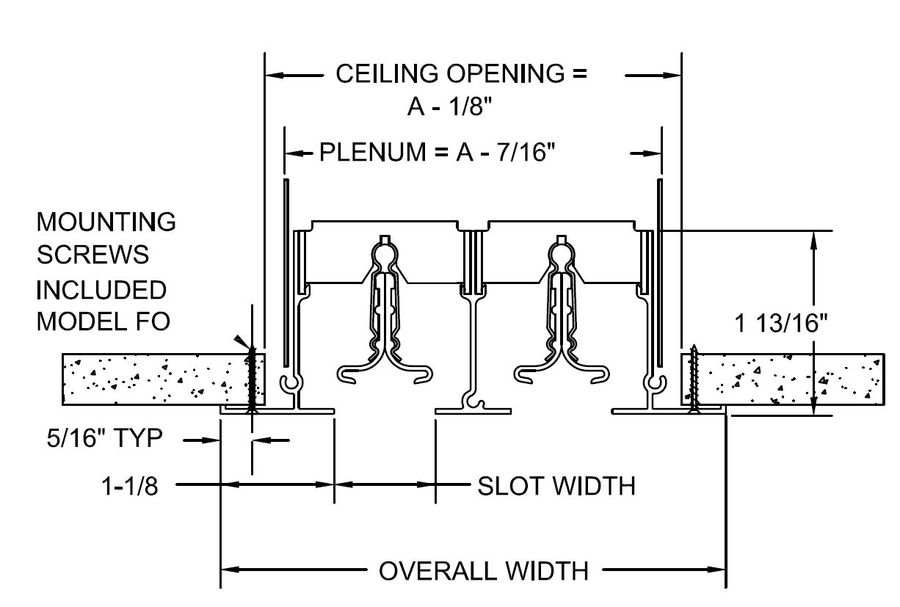 Krueger Linear Diffuser : Linear diffuser dimensions user guide manual that easy