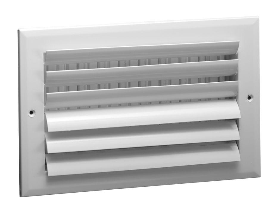 A482MS/A482OB Aluminum Curved Blade Register, MS or OBD damper, 2-way