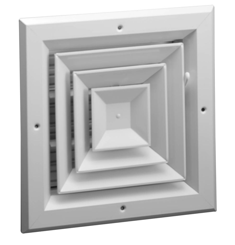 A1004 Series Four Way, Square Ceiling Diffuser