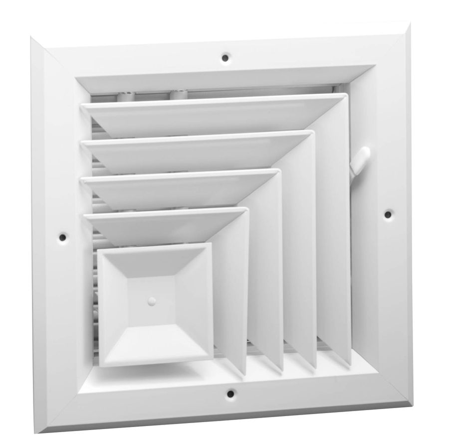 A1005 Series Two Way Corner, Square Ceiling Diffuser